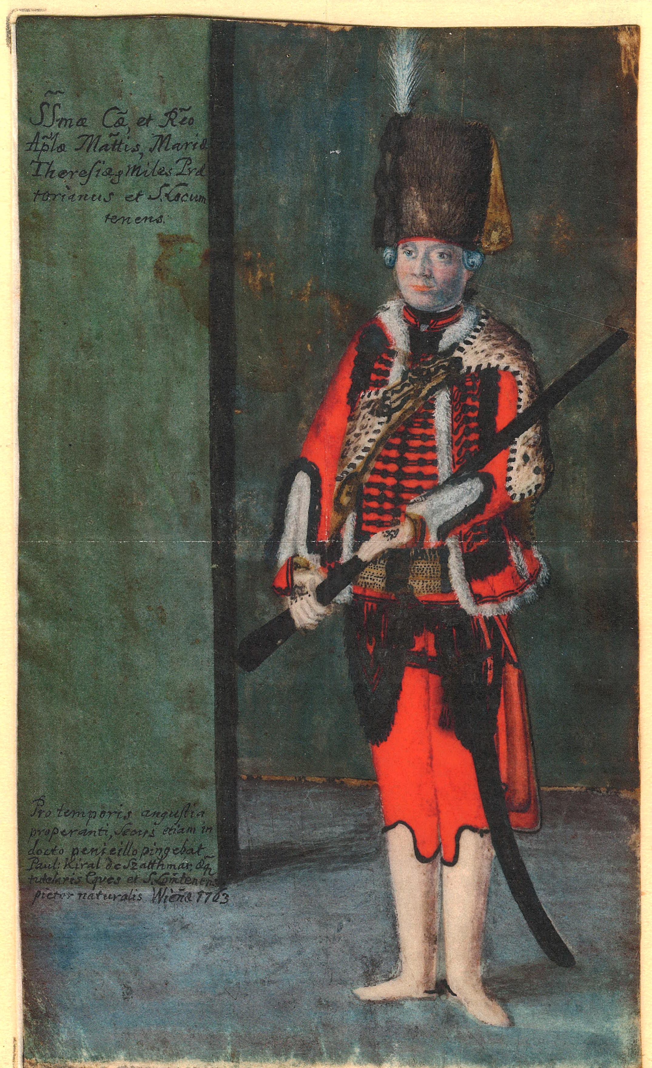 Magyar nemesi testőr egyenruhában