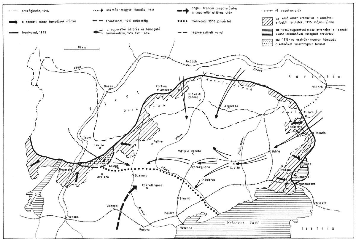 front térkép Doberdó, Isonzó és az olasz front száz éves csatái | Magyar  front térkép