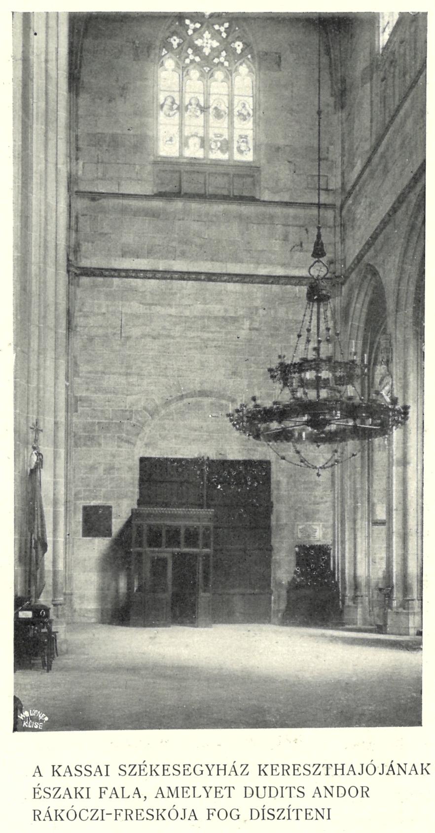 A Szent Erzsébet templom északi főbejáratának fala