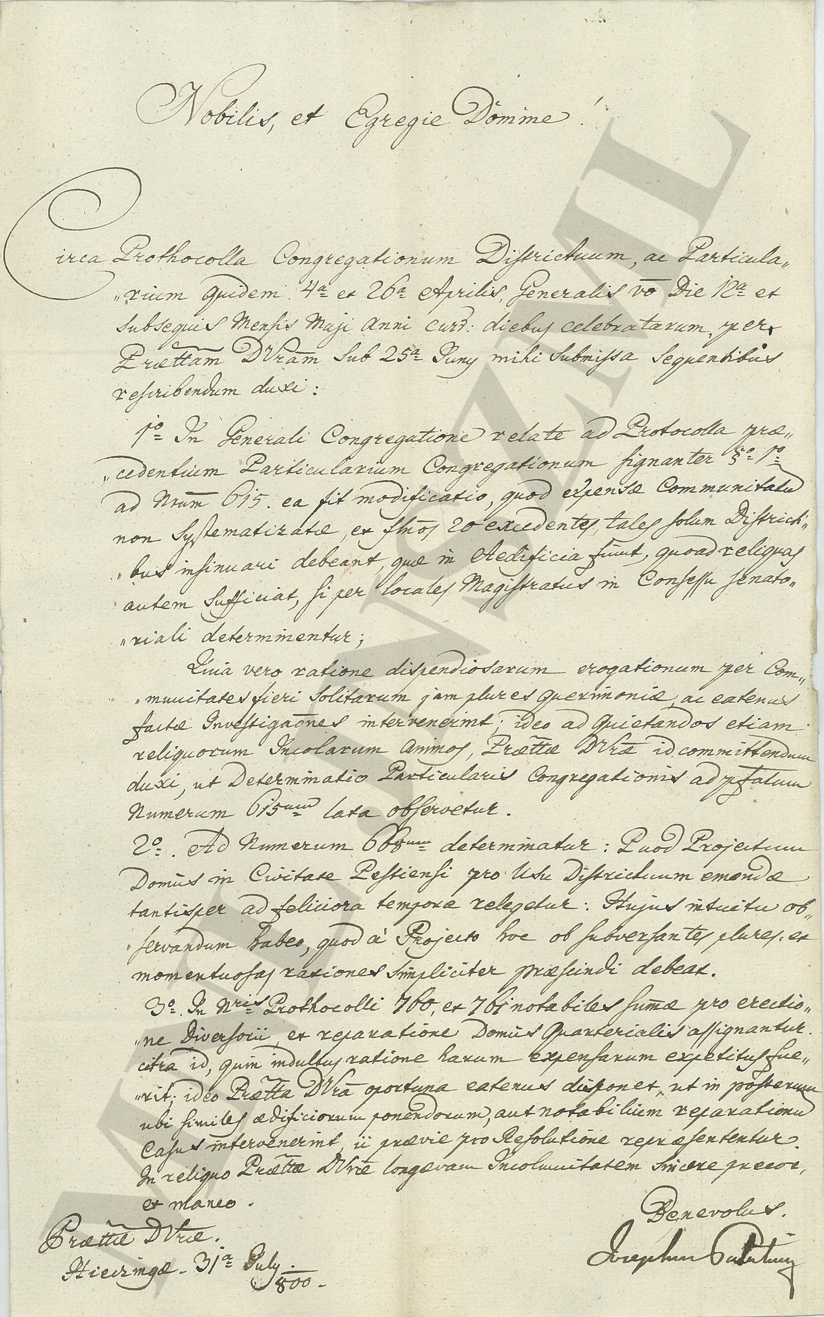 MNL JNSzML IV.1.b. A Jászkun Kerület Nemesi Közgyűlésének iratai. Közigazgatási iratok. Fasciculus 1. 1788/1800.