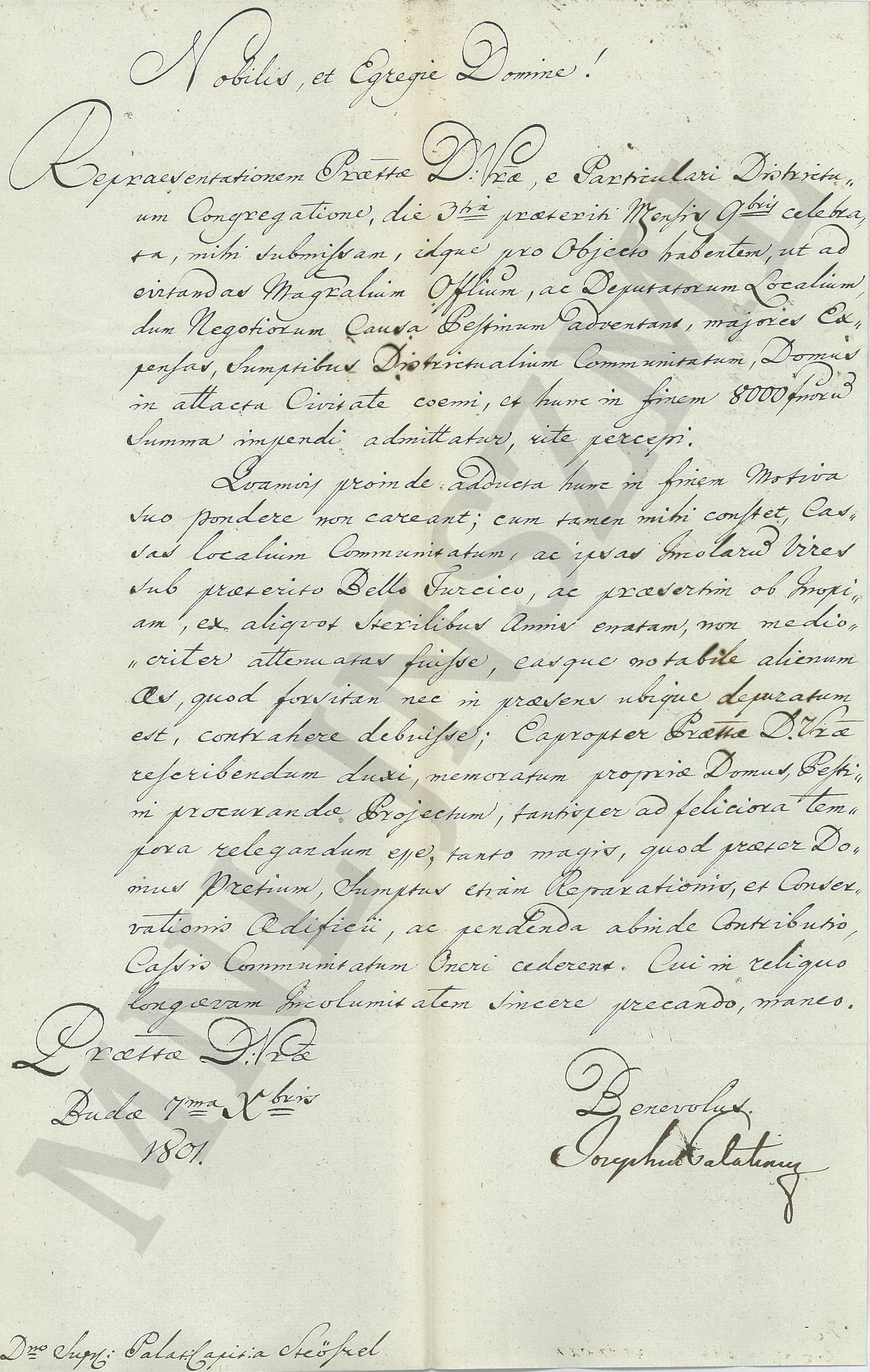 MNL JNSzML IV.1.b. A Jászkun Kerület Nemesi Közgyűlésének iratai. Közigazgatási iratok. Fasciculus 2. 2043/1801.