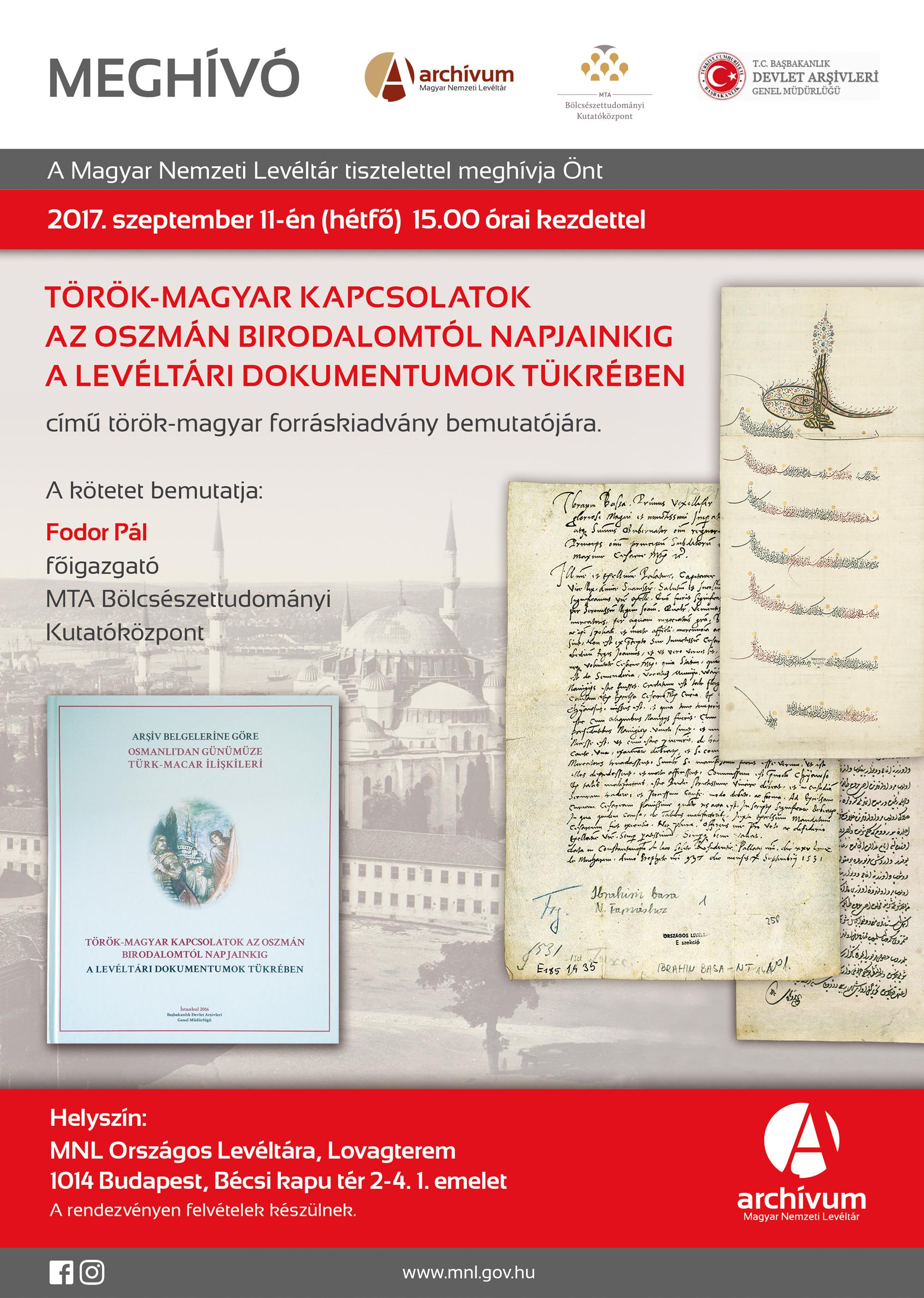Török-magyar könyvbemutató