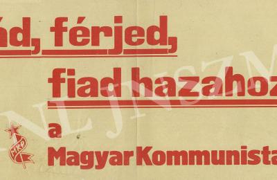 Az MKP egyik választási plakátja 1945-ben.