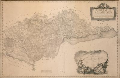 Kép Zala vármegye 1792-es térképéről.