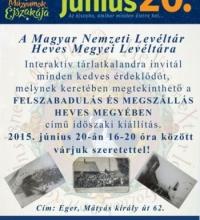 Múzeumok Éjszakája a Heves Megyei Levéltárban!