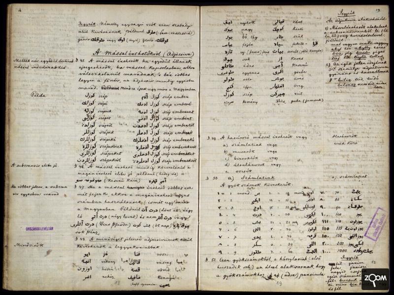 Kossuth nyelvtanfüzete - Forrás: Országos Levéltár