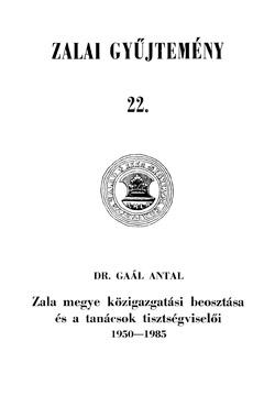 Zalai Gyűjtemény 22. borítókép.
